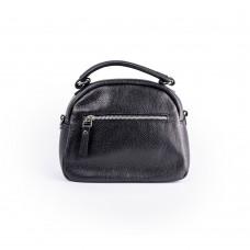 Невелика шкіряна сумка чорного кольору