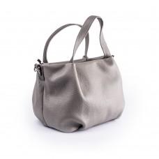 Невелика сумка м'якої форми з сірої шкіри