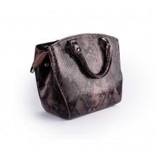 Невелика каркасна сумочка під зміїну шкіру