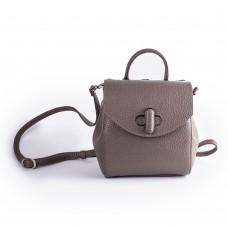 Шкіряний рюкзак кольору тауп