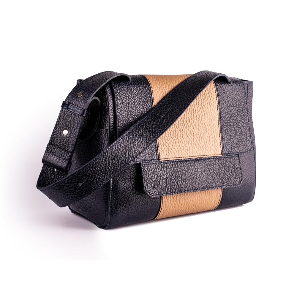 Сумка портфель з двох шкір