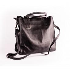 Велика чорна шкіряна сумка