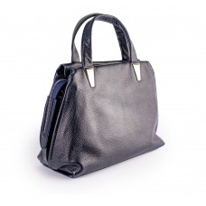 Сіра сумка з м'якої шкіри