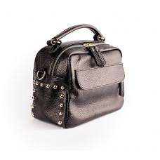 Чорна сумка прямокутного крою