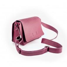 Шкіряна сумка-кроссбоді пурпурова