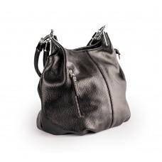 Чорна шкіряна сумка м'яка