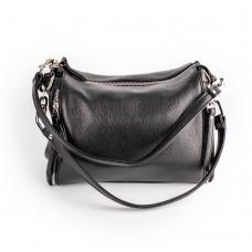 Чорна шкіряна сумка