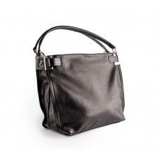 Чорна шкіряна сумка прямокутної форми