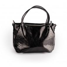 Чорна лакована сумка