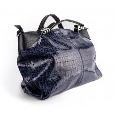 Велика сумка з лакованої шкіри фіолетового кольору,