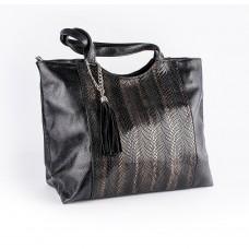 Комбінована шкіряна сумка