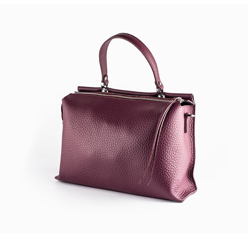 Велика сумка кольору марсала